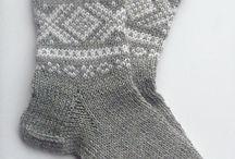 sokker strikket