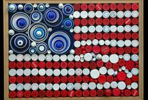 bottle caps, paint chips and other recycled art projects / by Chris Sholl