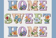 cross stitch home decoration, holidays...