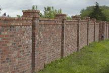 Brick fence/wall