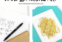 DIY | Lettering Projects