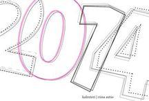 Kalenteri 2014 / Ei löytynyt sopivaa kalenteria taaskaan. Kerrankin oli aikaa siihen, mihin graafinen suunnittelija taipuu helposti - itse tehty kalenteri. Taitto ja kuvat omista (yhtä kuvaa lukuun ottamatta. Selkä tulee kierteellä kiinni ja fyysinen koko 17x17cm. Painokustannuksetkaan yhdelle kalenterille ei korvia huimannut - kaikkineen 14, 90€.