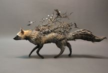 Art - Animal  Sculptures soft , metal, wire, and more / One of a kind works of art. Animals worked in many mediums and elements. #sculptures #animalart #animalsculptures