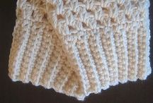 Crochet boot cuffs and gloves