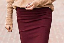 Burgundy / Skirt