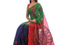 Tangail Half-Silk Sari