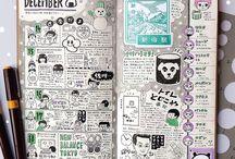 Junk Journal / -Оформление блокнотика -Идеи для оформления джанкбука -Рисунки