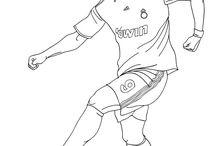 futbalisti kreslené