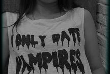 "me / My favorite T-shirt "" I only Date Vampires"""