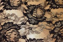Dress Lace Fabrics / A large collection of dress and bridal lace fabric. Both stretch and