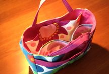 With my own 2 hands / sewing projects tote bag handmade bags shopping bag  / by Silvinha Nogueira