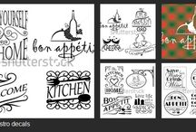 Gastro Decals / Wall decals are great accessories to decorate the kitchen or any dining room or cafes and other eatery.
