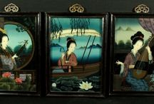 chinese glass paintings