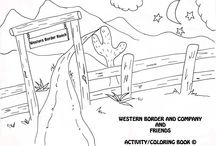 Coloring/Activity Book / Join our email list to get our free coloring books. www.westernborderandco.com