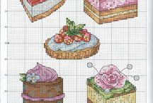 Тортики, пироженки крестиком