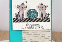 Card Ideas - Mama Elephant Purrfect Together / by Lisa Gundrum