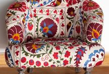 Textiles / embroidered by hand or vintage textiles