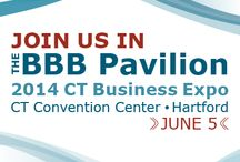 BBB Pavilion at the 2014 CT Business Expo / Check out your BBB at the CT Business Expo on June 5, 2014! Admission is free - and there will be may great networking opportunities, education seminars, speakers & more!  Be there!  / by BBB Serving Connecticut
