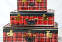 Decorated luggage and train cases / by M Barton