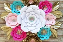 wall decor paper flowers