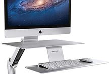 Ergotron WorkFit-A Workstation for iMac / Using your iMac has never been this easy and convenient. Use it  both sitting and standing, share screen with friends and colleagues. Ergonomics at its best.