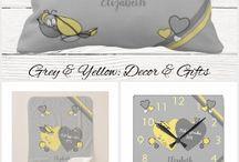 Nursery Decor grey and yellow