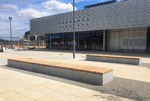 Cambridge North Railway Station Project / Bespoke Supplied version of the Soca bench to provide plaza seating for the new Cambridge North railway station.