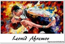⊱ Leonid Afremov ⊰ / ≻ Leonid Afremov ~ Vitebsk, Belarus, 12 July 1955 ≺  Leonid Afremov  is a Russian–Israeli modern impressionistic artist who works mainly with a palette knife and oils.  He developed his own unique technique and style which is unmistakable. Afremov is mainly known as being a self-representing artist who promotes and sells his work exclusively over the internet with very little exhibitions and involvement of dealers and galleries.
