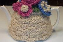 Tea pot crochet tea cozy