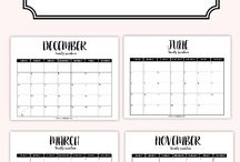 Шаблоны календарей