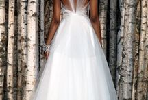 Wedding dress with tulle back x style