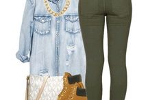 Olive/Army Green Jean Outfits