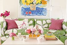 Palm Beach Chic Décor- The Glam Pad / Palm Beach Chic Decor Guest Pins by Andrea at The Glam Pad / by Lilly Pulitzer