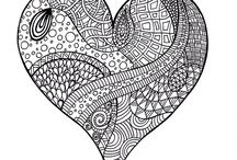 coloring hearts