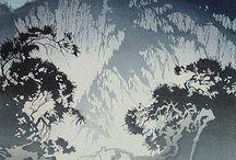 Woodblock print and Linocut