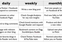 Daily Plans for Using Social Media Effectively / by Peg Corwin