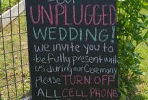 Unplugged Weddings / How and why to have an unplugged wedding.