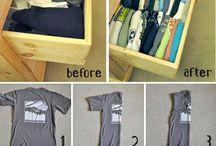 Organisere ting, klær osv
