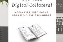 Digital Product Creation / creating media kits, ecourses, webinars, ebooks, etc