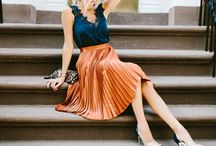 Navy pleated skirt summer