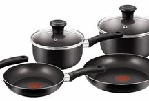 Non Stick Cookware Set Aluminium Black Saucepan Pan Pot Frying Gas Electric Hob