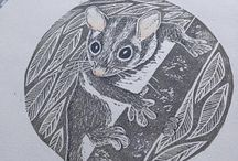 Animal block prints