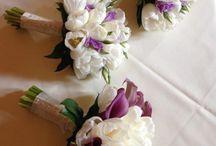 White & Purple wedding