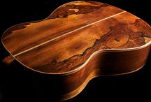 Strikingly Beautiful Wood / Guitars in our current collection that showcase natural, beautifully-figured grain patterns.