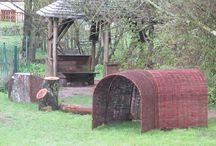 Weidenhütten / Spielhäuser aus Weiden für Kitas, Kigas, Krippen und Privatgärten
