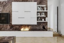 Ethanol Fireplace in a Private Residence in Italy by Stone Gallery Design / modern ethanol insert, modern decor, contemporary design