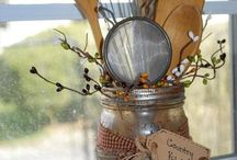 Mason jars with spoons