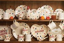 Cool...Emma Bridgewater / Emma Bridgewater is a family business which proudly contributes to Staffordshire's heritage. Emma and her husband, Matthew Rice, design every piece of pottery themselves – inspired by their home, their children and even their chickens! All their pottery is made by hand in a Victorian factory in Stoke-on-Trent, keeping the area's traditional skills alive and ensuring that each piece has a real integrity.