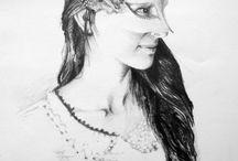 Student Works / Atölyeden öğrenci çalışmaları, student's works from my drawing atelier