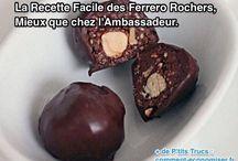 chocolat et petits gâteaux